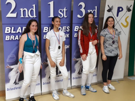 Sarah Wins Silver and Carlotta Wins Bronz at Elite Epee Moulton.Well done!