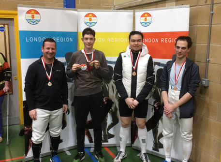 Max wins London Region Novice Mens Epee Event!