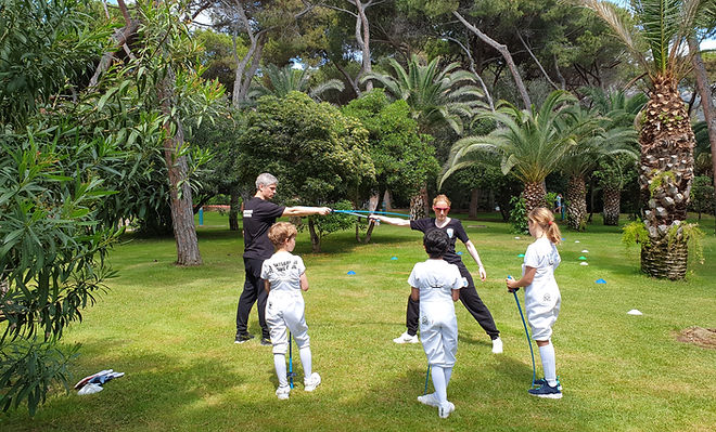 warmup at Forte Village
