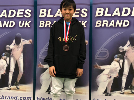 Cheney Wins Bronze medal at the Elite Epee U14