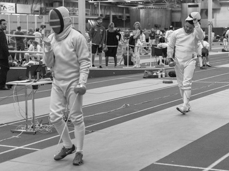 Tord (left) tested himself at Malmo International and placed 24th out of 132