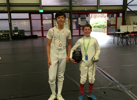 Zack wins Gold and Christian wins Bronze medal at the IAPS fencing competition!