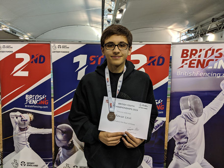 Renzo placed 5th at the British Youth Championships 2019