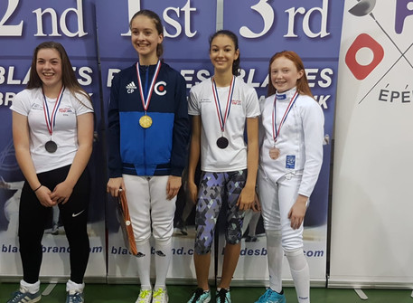 We collected three bronze medal at Elite Epee in Surrey! Well done Charlotte, Marco and Toby!