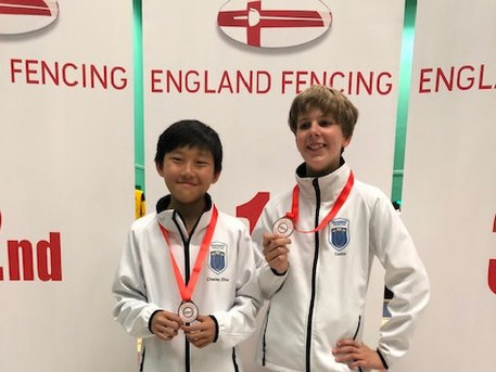 Cheney Won Silver and Cador Won Bronze at England Youth Championships 2019