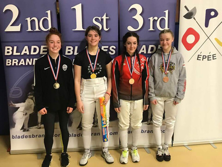 Sophia wins Elite Epee Junior Series, Event 2 - Moulton College, Northants!