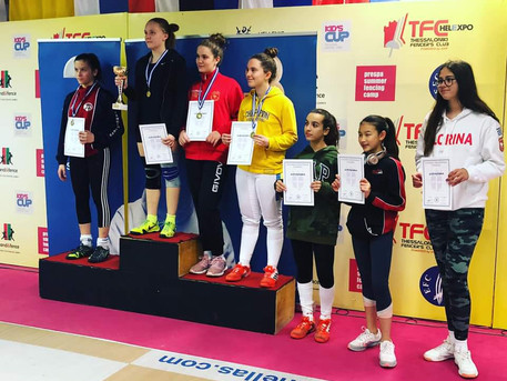 Ellie 7th at the European Fencing Circuit U14 Thessaloniki