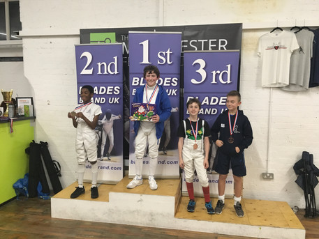 Zack wins bronze medal in Manchester at Elite Epee U12
