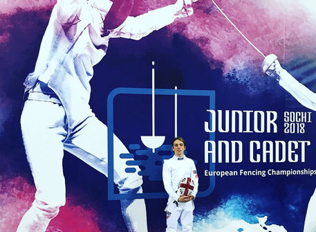 Josh, representing Team GB at the Cadet European Championship in Sochi!