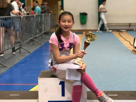 Ellie won 2018 International Youth Tournament of Dieppe, France!