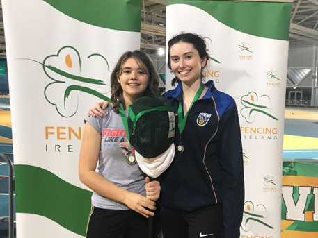 Sophia won silver medal at the Irish Open along with Lucy