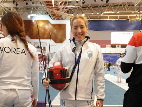 Julianna is preparing for day 1 at the World Cup in Dubai 2019