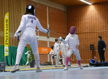 Ellie, 7th at International Youth Fencing Cup in Ghent Belgium!