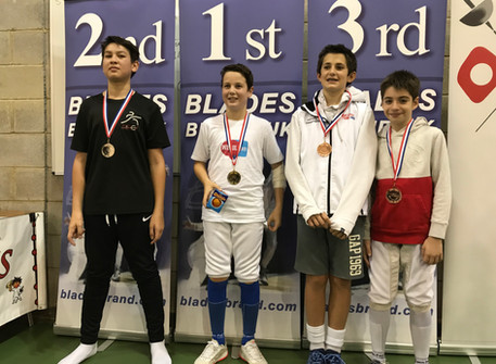 Alec wins Gold medal, Lorenzo Bronze at Elite Epee Junior Series 8