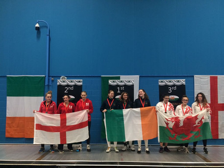 Sophia Wins Gold in Team Event at the Youth 5 Nations in Cardiff. She Won 2 Gold Medals!