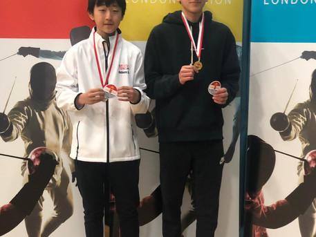 Renzo Won Gold & Osborn Won Silver at London Region U16