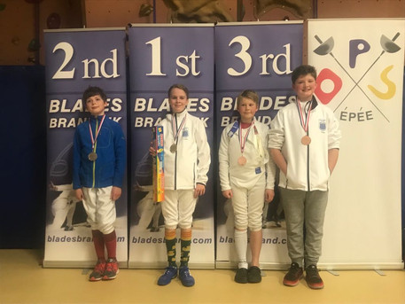 Cador wins gold and Theo wins bronze medal at Elite Epee Junior Series, Event 2 - Moulton College, N