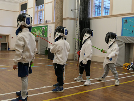 We launched our new baby fencing class for ages 4-6