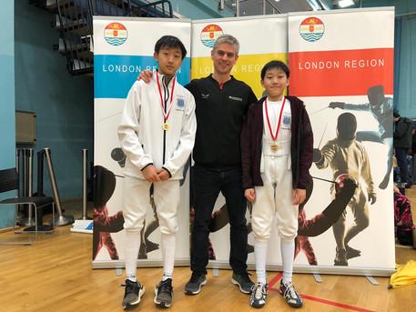 Cheney U14 & Osborne U16 Win Gold at London Youth Championship