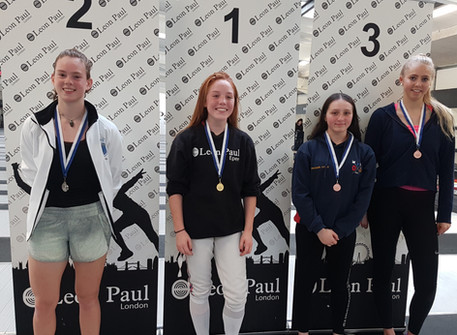 Avery wins silver at Leon Paul BRC Women's Junior Epee 2
