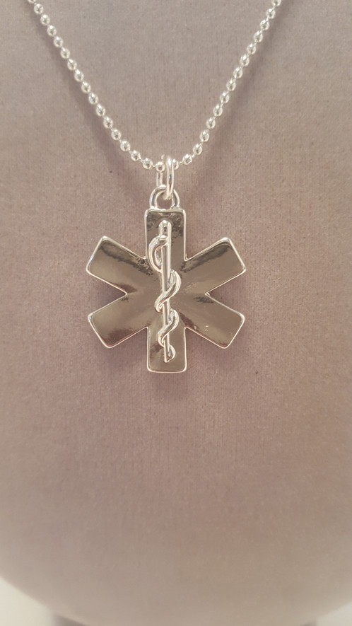Star of life pendant necklace with ball chain cohesive jewels shop star of life pendant necklace with ball chain aloadofball Image collections