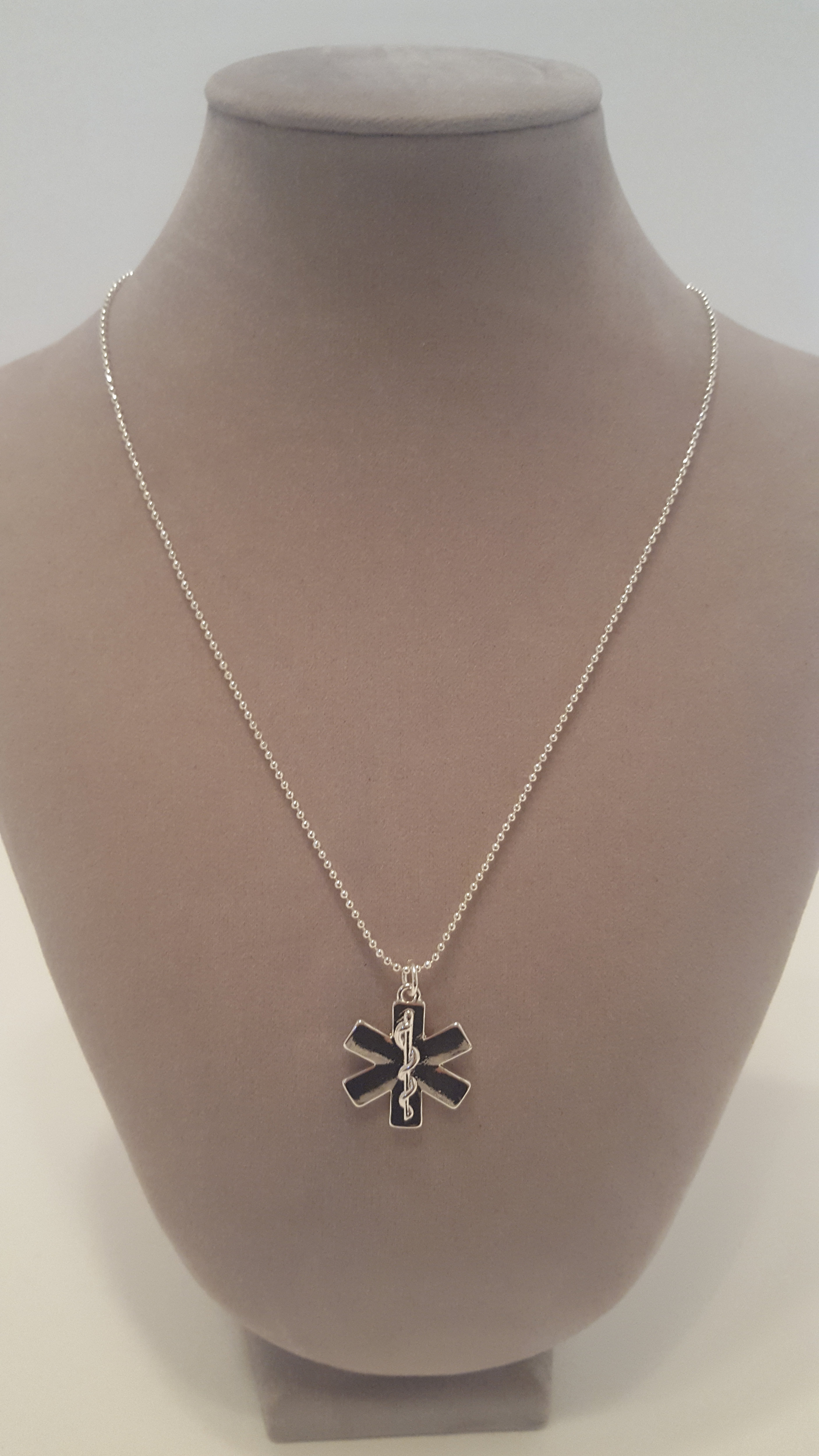 Hometown heroes jewelry star of life pendant necklace with ball chain star of life necklace with ball chain 18 inch chain charm measures 78 available in silver gold and rose gold aloadofball Image collections