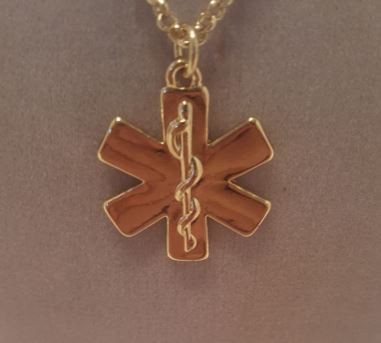 Star of life pendant necklace with rolo chain cohesive jewels shop star of life pendant on rolo chain 18 inch chain pendant measures 78 inch available in silver gold and rose gold aloadofball Image collections