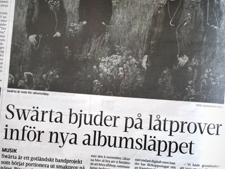 Swärta at the frontpage in GT