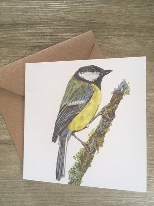 Great Tit Greetings Card
