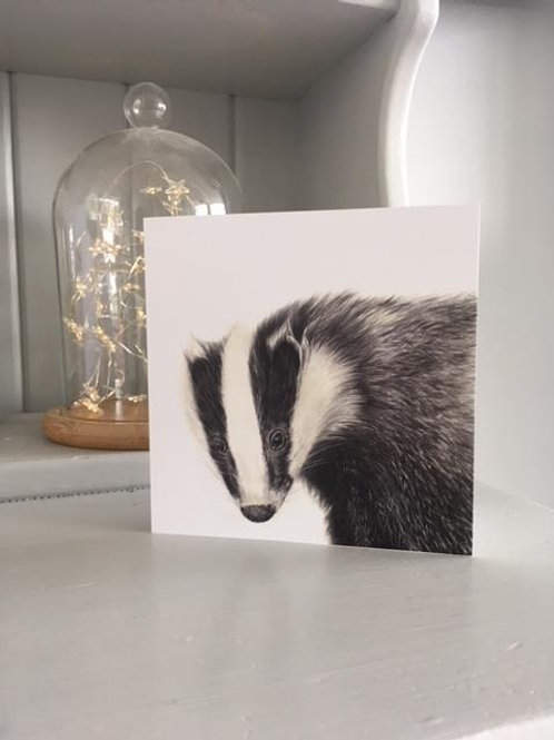 Bagder Greetings card