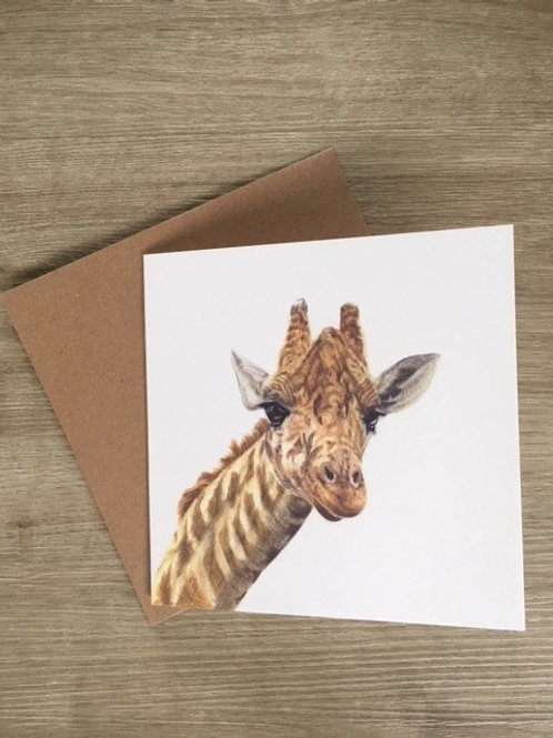George - Giraffe Greetings Card