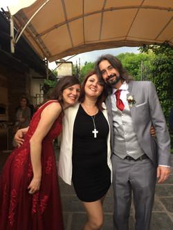 Lara con sposi a Mulino dell'Olio