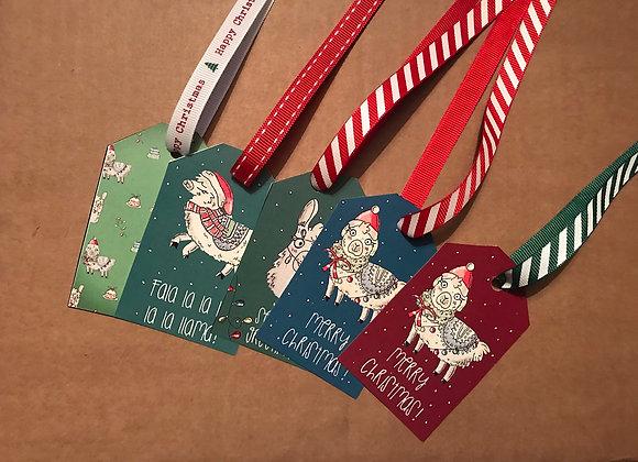 Christmas Llama gift tags