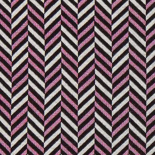 Organic | Glow Herringbone Black & Pink