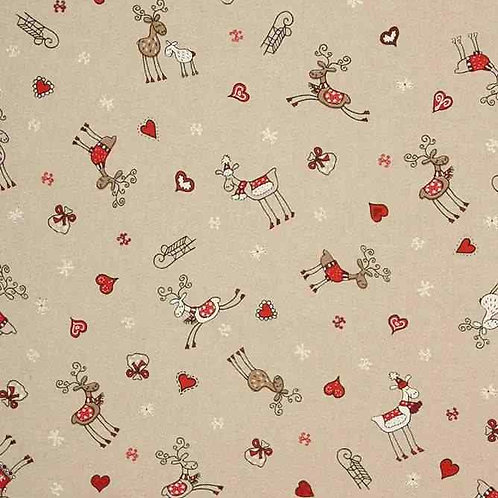 Fully Washable | Reindeer Love Red