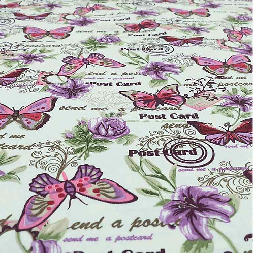 Yorkshire Cotton Designs | CTR-304 Pink Butterflies