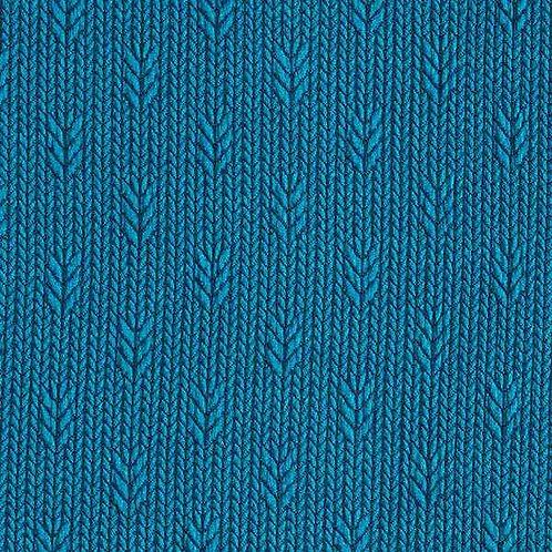 Organic | Plain Stitches Up Knit Petrol