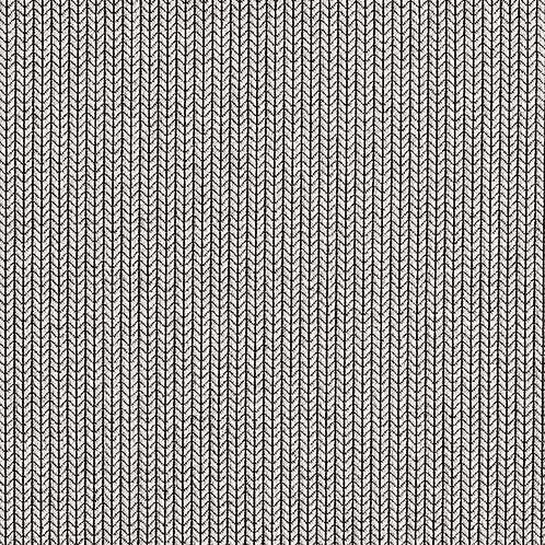 Organic | Knit Knit Light Grey & Black