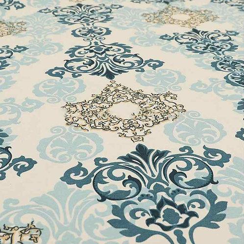 Yorkshire Cotton Designs | CTR-309 Blue Damask