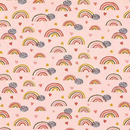 Organic | Rainbow and Hearts Pink