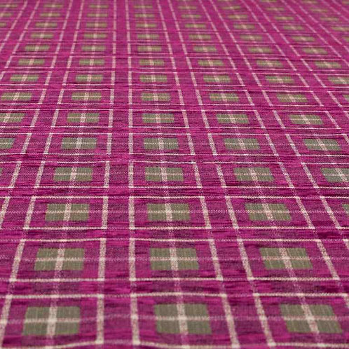 Yorkshire Chenille Designs | Ketu Checkered Fuschia