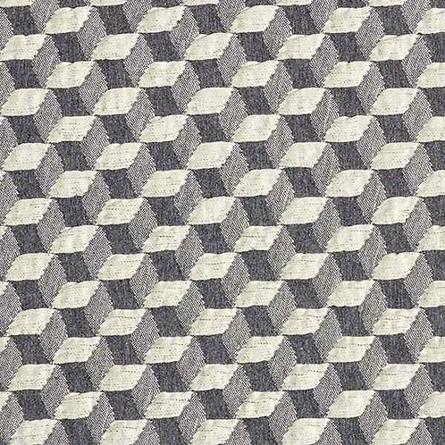 Organic | Plain Stitches Diced Cloqué Grey & Offwhite