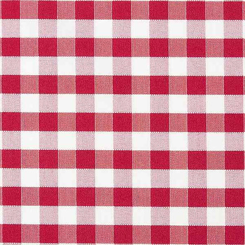 Waterproof Dralon | Outdoor Decor Teflon Check Red