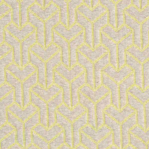 Organic | Plain Stitches Brick Step Cloqué Natural & Yellow
