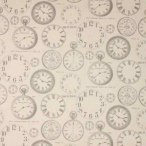 Fully Washable | Vintage Clock Charcoal