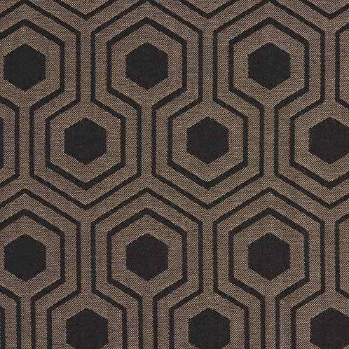 Waterproof Dralon | Outdoor Fabric Graphic Pattern Beige-Black