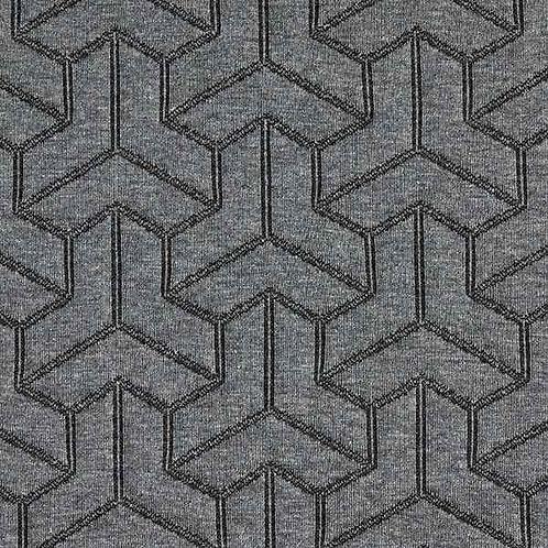 Organic | Plain Stitches Brick Step Cloqué Anthracite