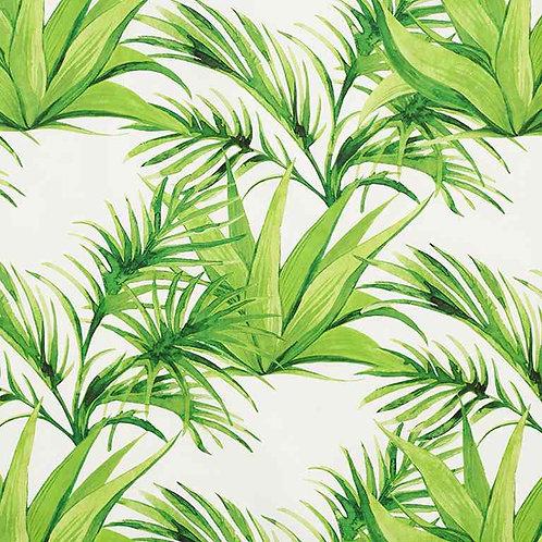Waterproof Dralon | Tropical Leaves Green