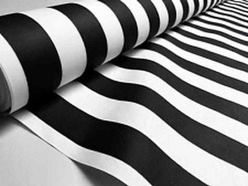 Waterproof Sundec/Sunbrella | Stripes Black