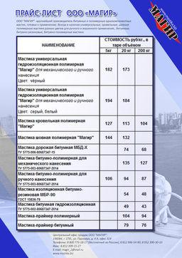 Мастика магир сертификат производитель гидрофобизатор пластил у купить
